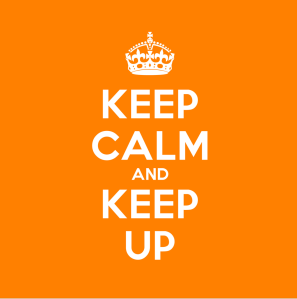 Orange Keep Calm Sign