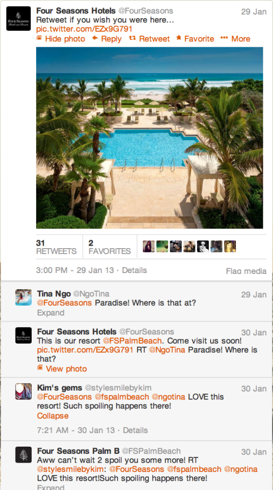 Four Seasons Twitter Account Exchange