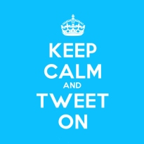 Keep Calm & Tweet On - Blue
