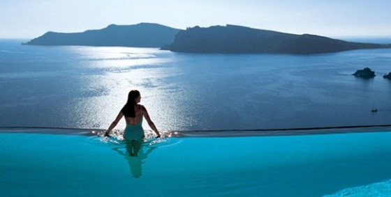 Infinity pool greece