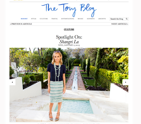 Tory Burch luxury brand blog