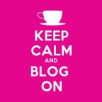 Keep Calm & Blog On - Pink