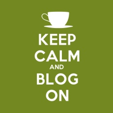 Keep Calm & Blog On - Green