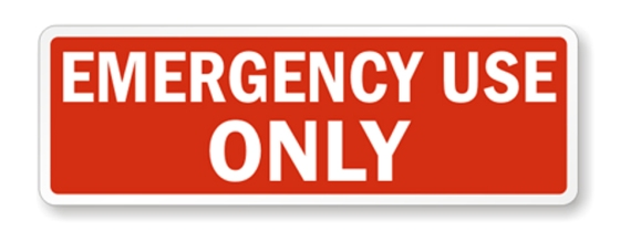 Emergency use
